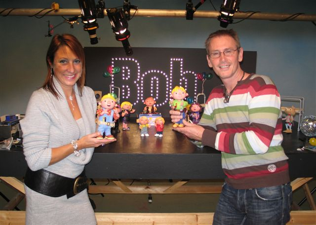 Nik and Jane with Bob The Builder